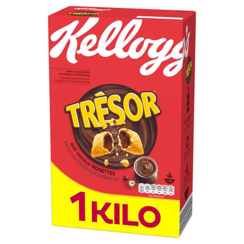 Céréales Trésor au chocolat noisette, Kellogg's (1 kg)