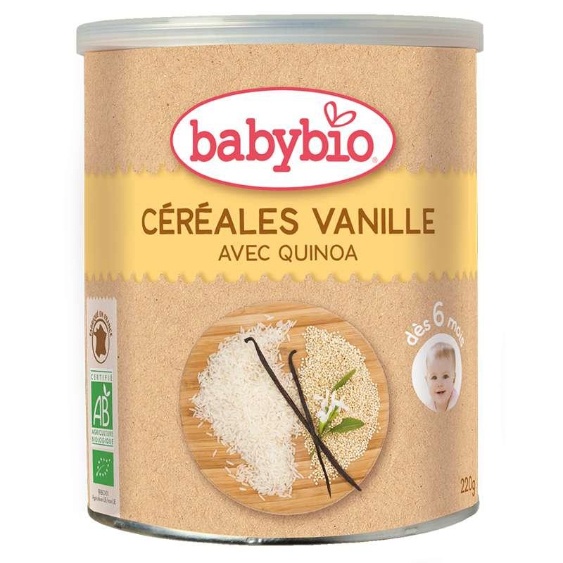 Céréales vanille avec quinoa BIO - dès 6 mois, Babybio (220 g)
