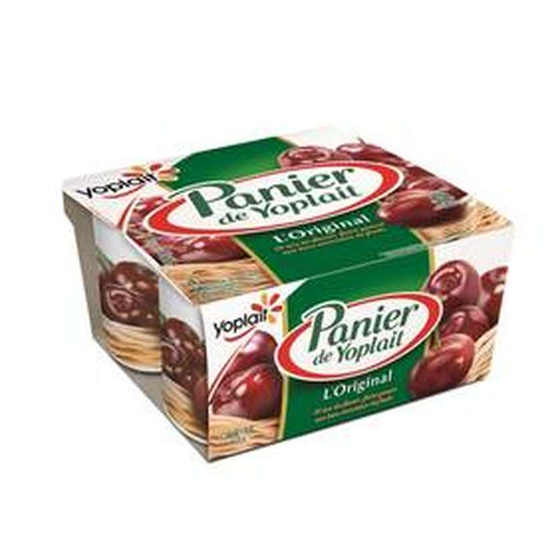 Yaourt Cerise, Panier de Fruits Yoplait (4 x 125 g)