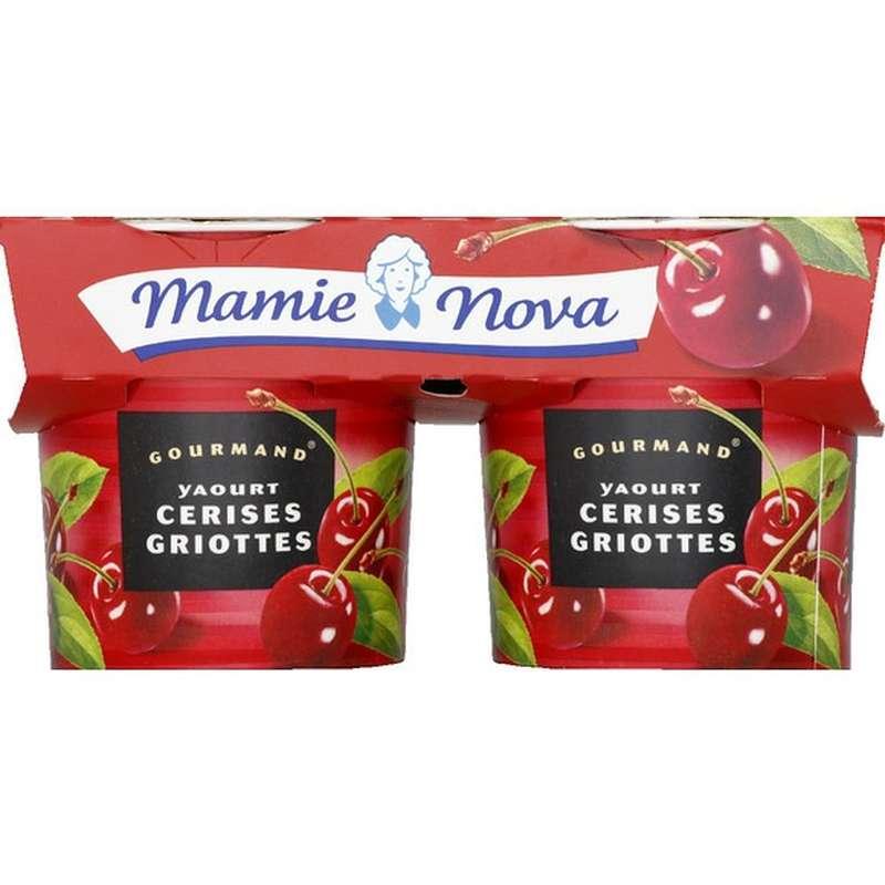 Yaourt Gourmand Cerise Griotte, Mamie Nova (2 x 150 g)