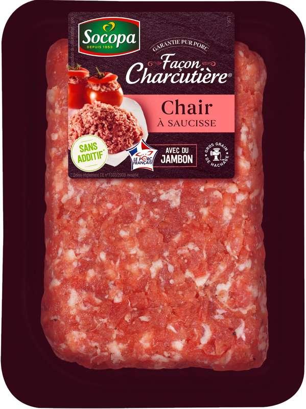Chair à saucisse au jambon, Socopa (500 g)