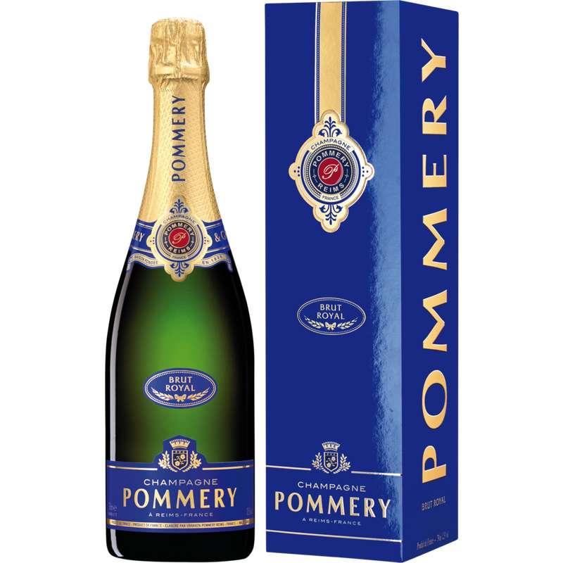 Champagne brut AOP Royal, Pommery (75 cl avec étui)
