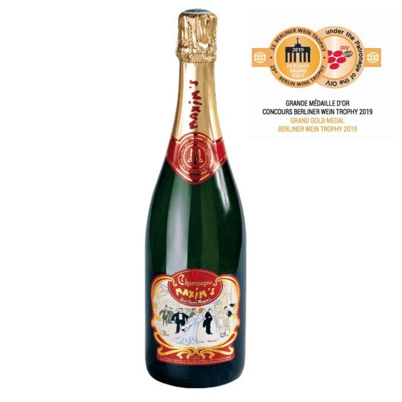 Champagne Brut classique médaille d'or Berliner Wein Trophy 2019, Maxim's (75 cl)