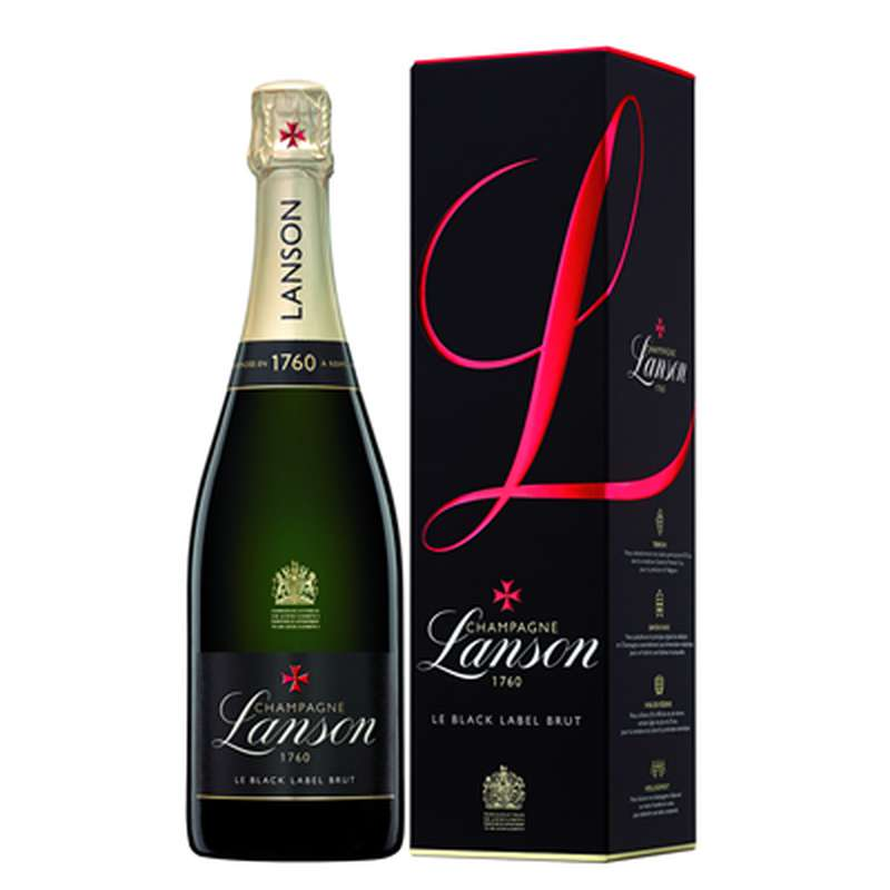 Champagne Brut Le Black Label, Lanson (75 cl)
