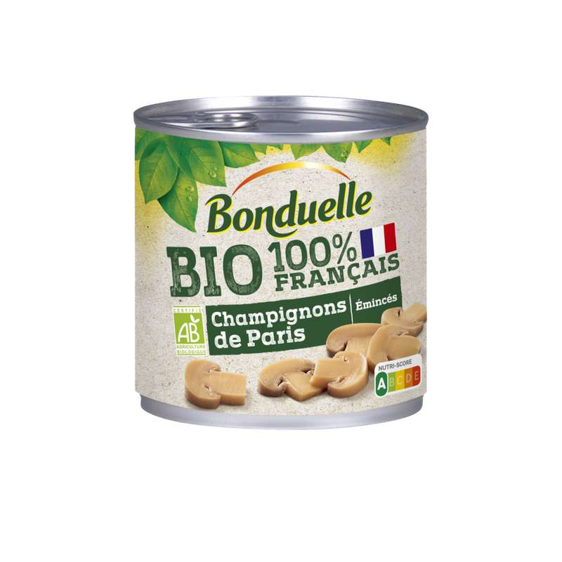 Champignons éminçés BIO, Bonduelle (230 g)