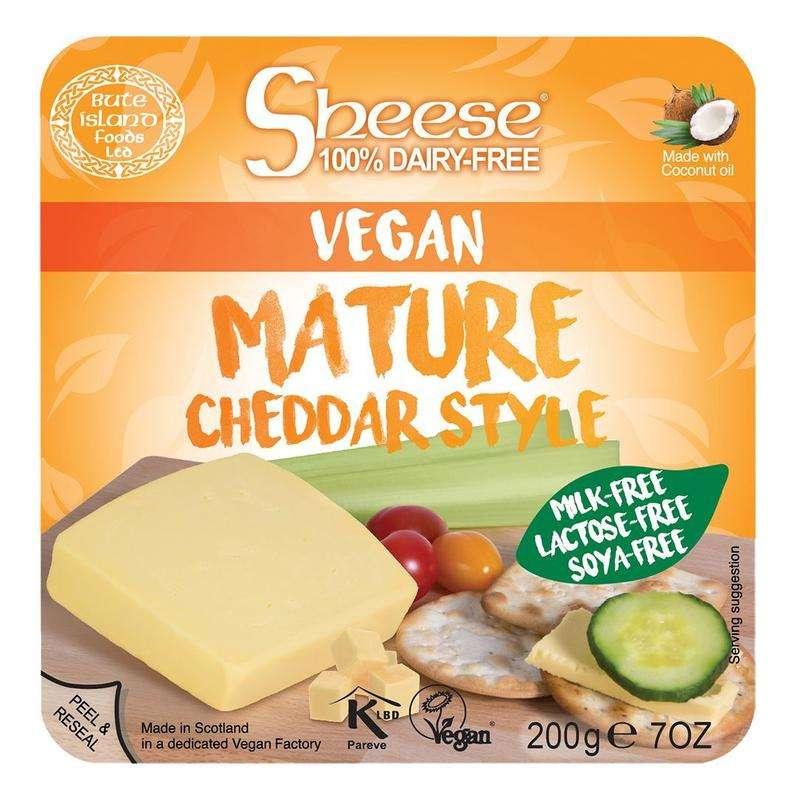 Cheddar vegan tranchés, Sheese (200 g)