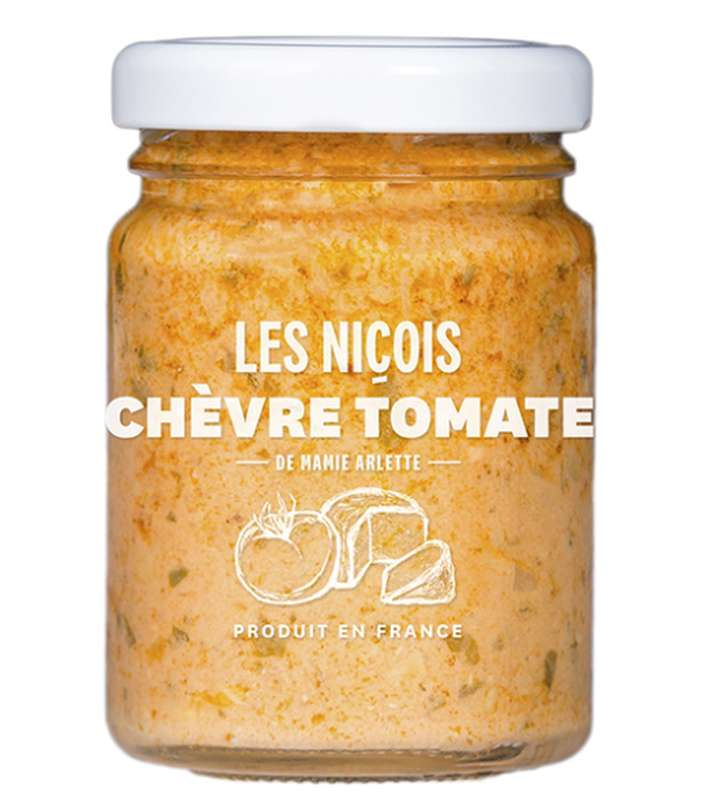 Chèvre Tomate de Mamie Arlette, Les Niçois (80 g)