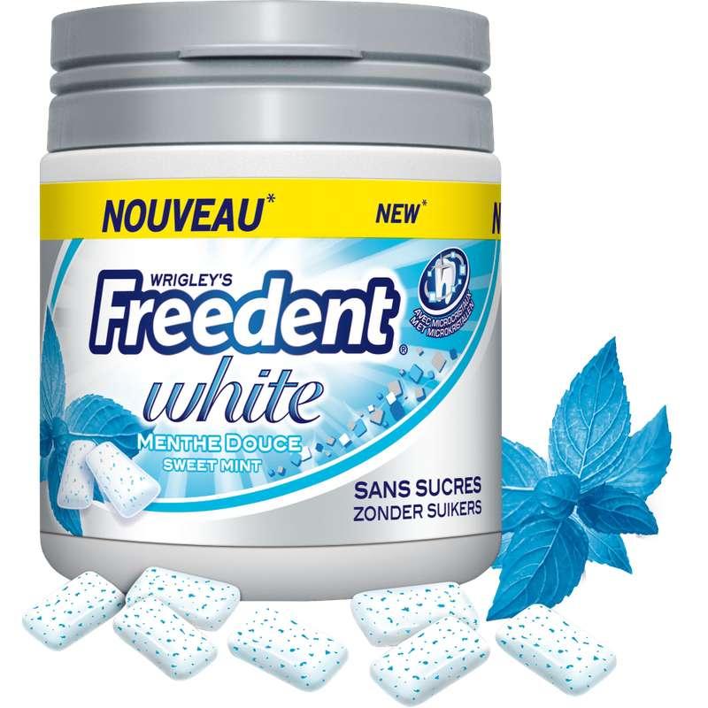 Chewing-gum Menthe Douce sans sucre, Freedent White (60 dragées)