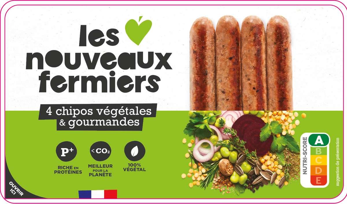 Chipos végétales aux herbes de provence, Les Nouveaux Fermiers (x 4, 200 g)