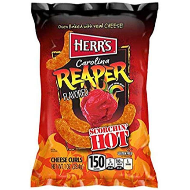 Chips au piment carolina reaper et fromage, Herr's (28 g)