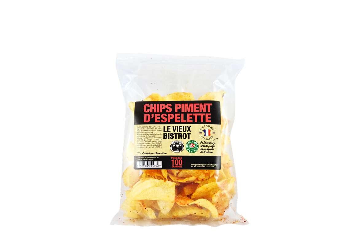 Chips au Piment d'Espelette AOP, Le Vieux Bistrot (100 g)