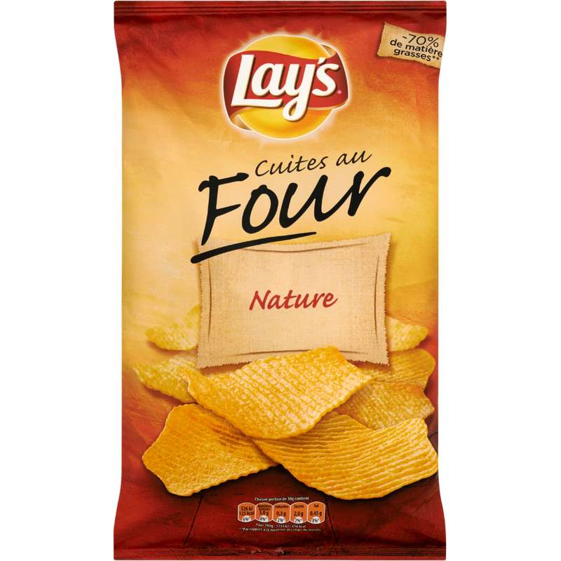 Chips cuites au four nature, Lay's (130 g)