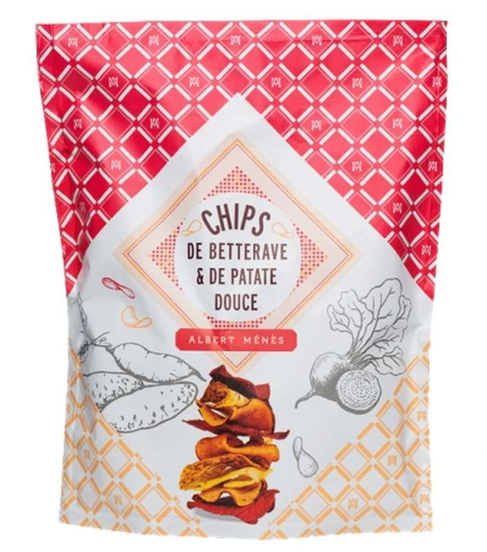 Chips de betterave et de patate douce, Albert Ménès (70 g)