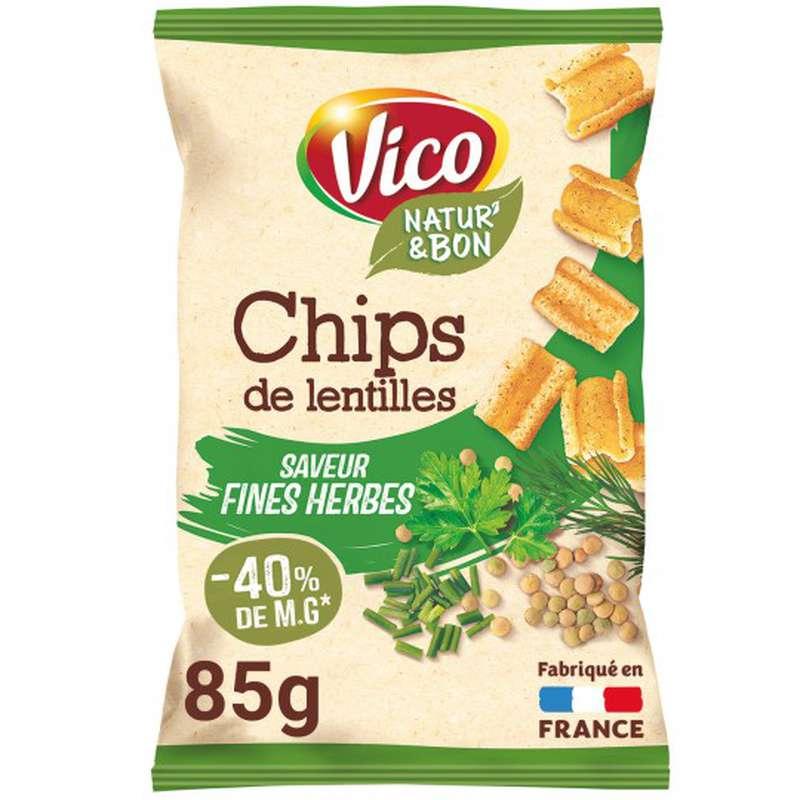 Chips de lentilles saveurs et fines herbes, Vico (85 g