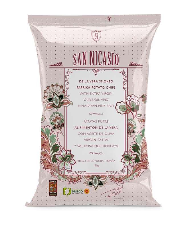 Chips de luxe à l'huile d'olive vierge extra, au sel rose et au paprika, San Nicasio (150 g)