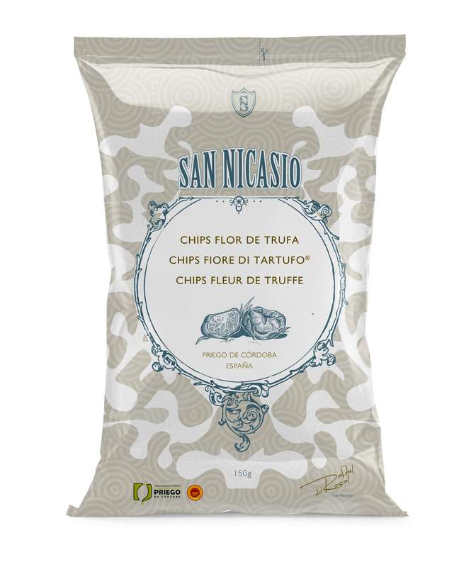 Chips de luxe à l'huile d'olive vierge extra et à la fleur de truffe, San Nicasio (150 g)