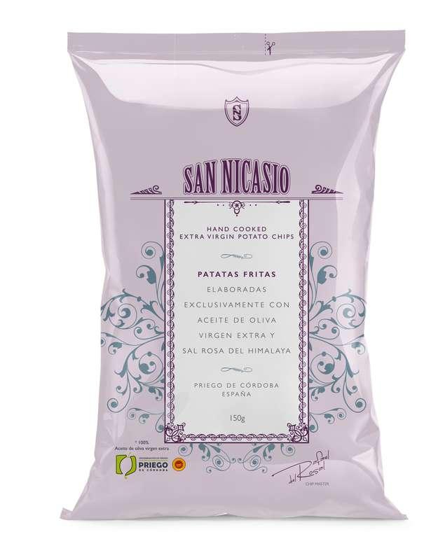 Chips de luxe à l'huile d'olive vierge extra et au sel rose, San Nicasio (150 g)