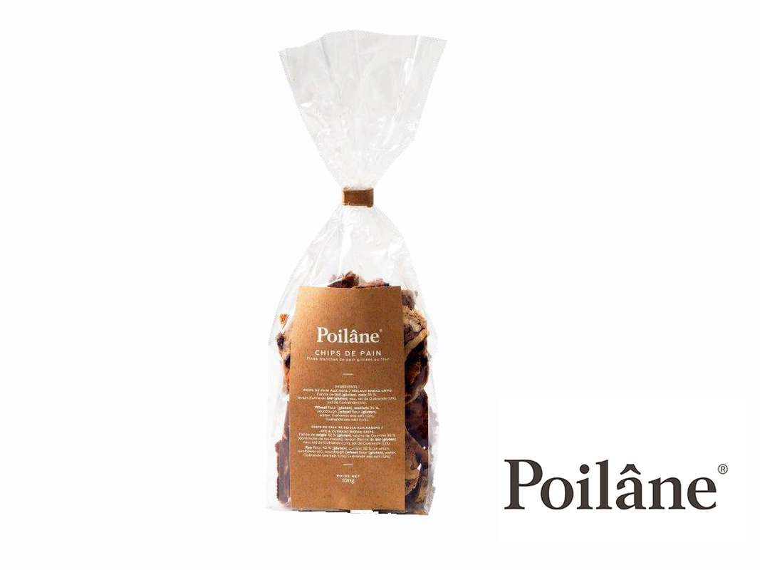Chips de pain aux noix et raisins, Poilâne (100 g)