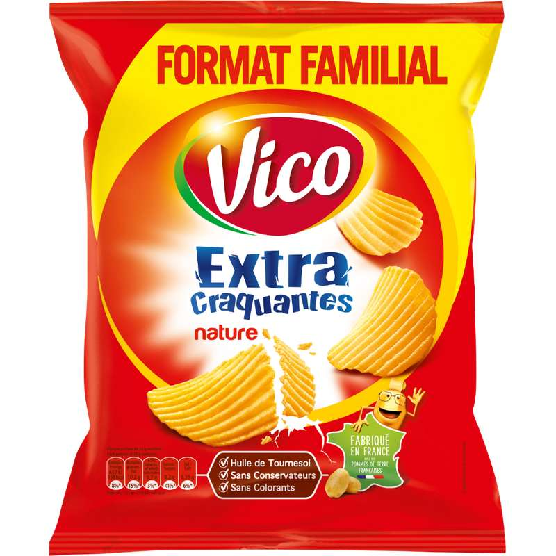 Chips extra craquantes nature, Vico (270 g)
