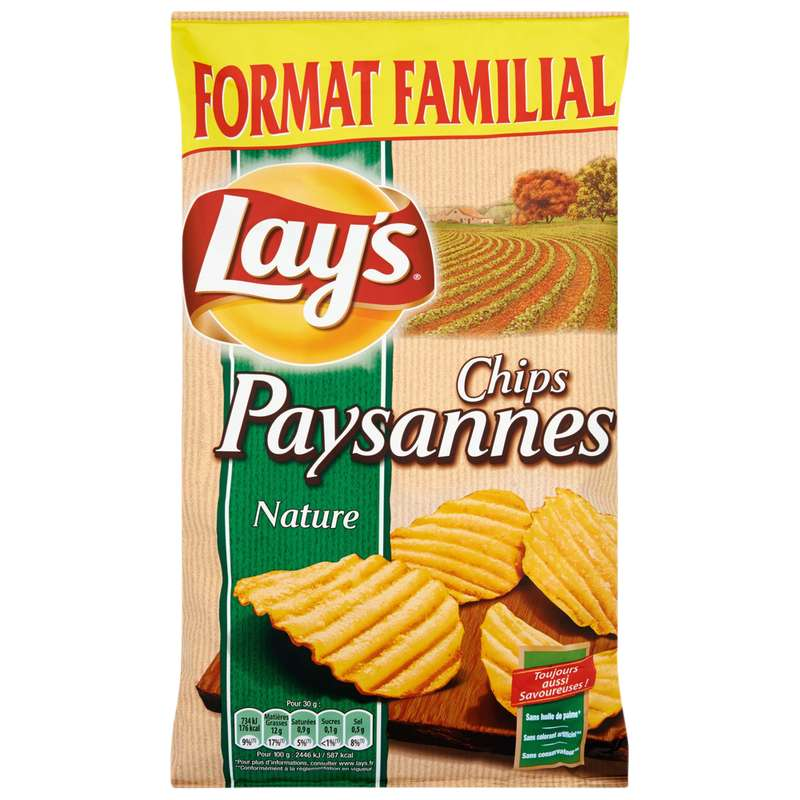 Chips paysannes nature, Lay's (300 g, format familial)