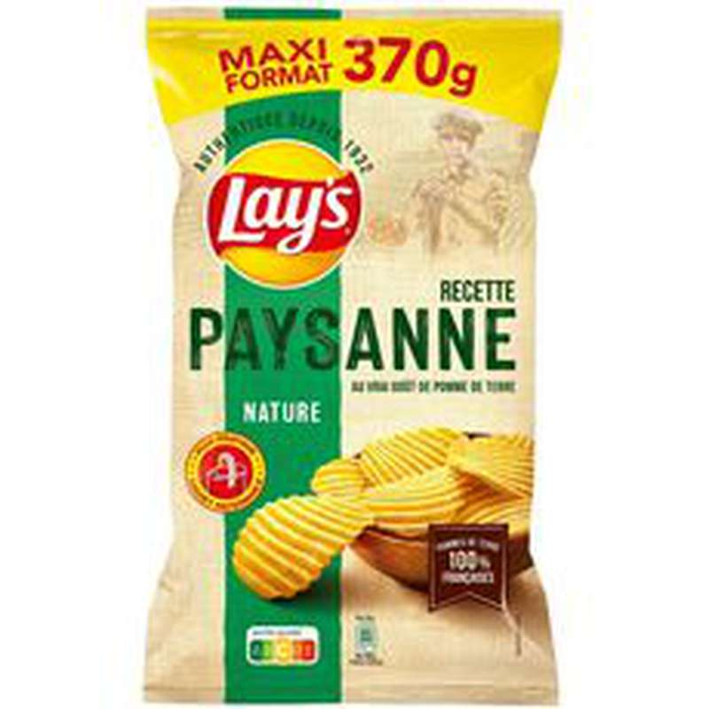 Chips paysannes nature, Lay's (370 g)