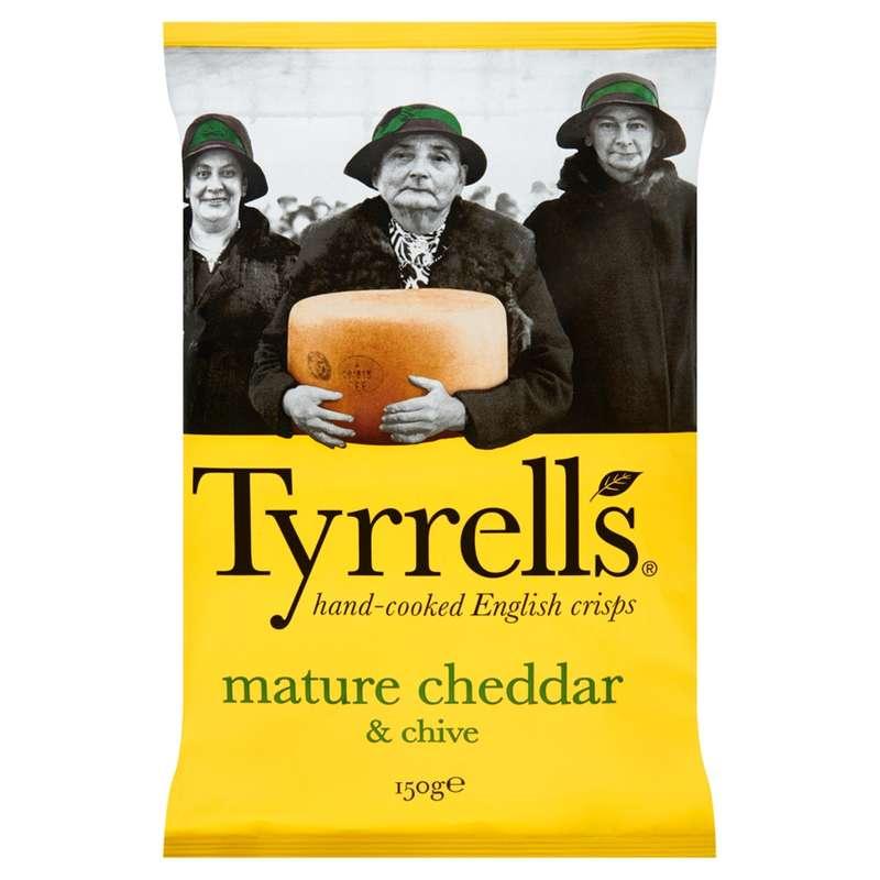 Chips saveur cheddar, Tyrrells (150 g)