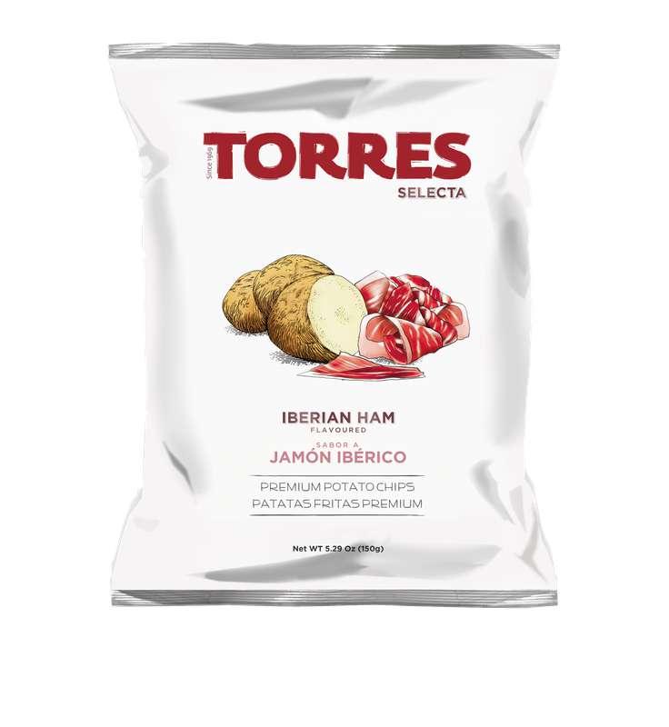 Chips saveur jambon ibérique, Torres (150 g)