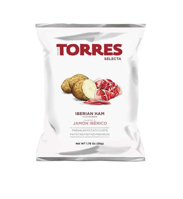 Chips saveur jambon ibérique, Torres (50 g)