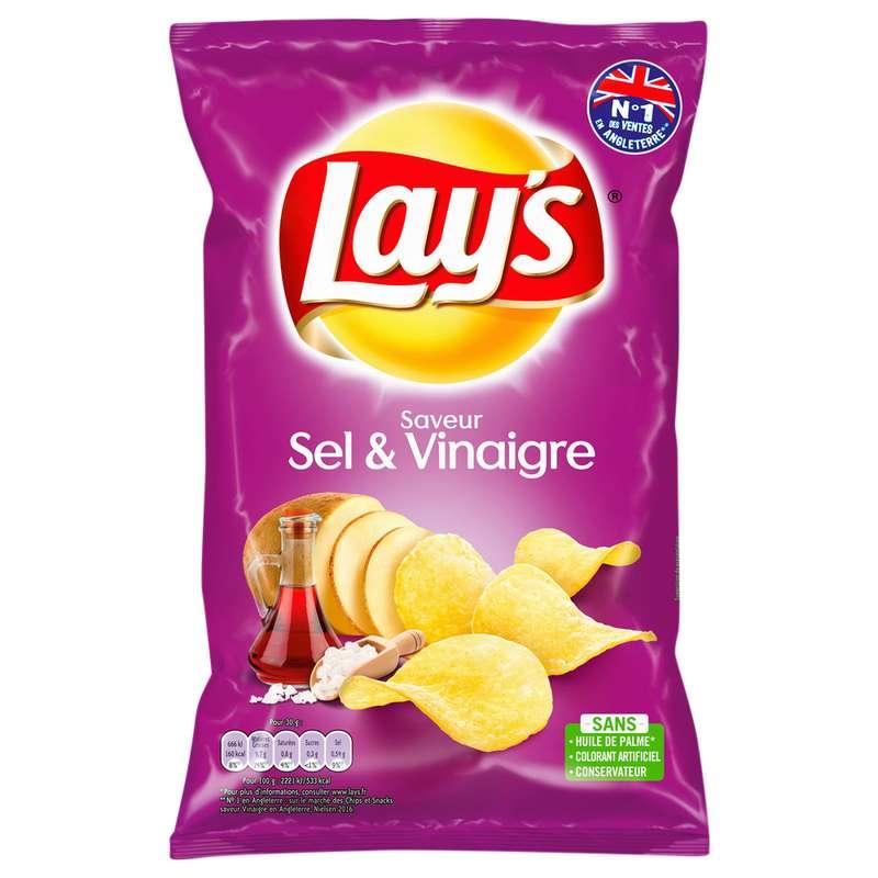 Chips saveur sel & vinaigre, Lay's (130 g)