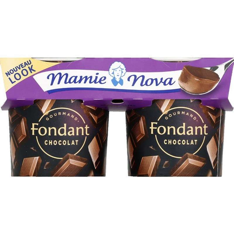 Dessert Fondant au Chocolat, Mamie Nova (2 x 150 g)