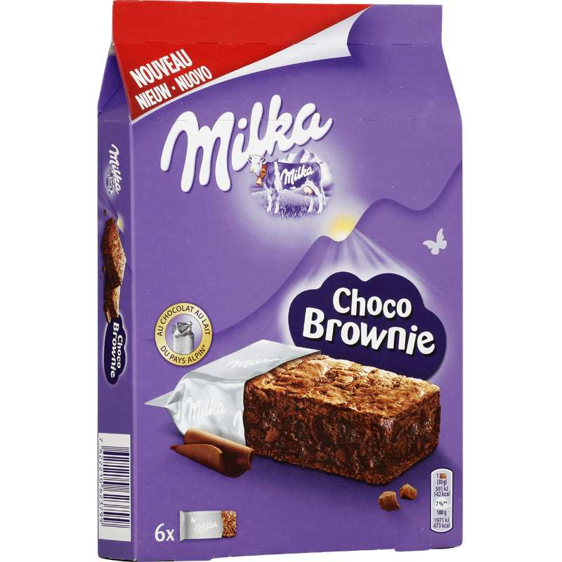 Gateau choco brownie individuel, Milka (180 g)