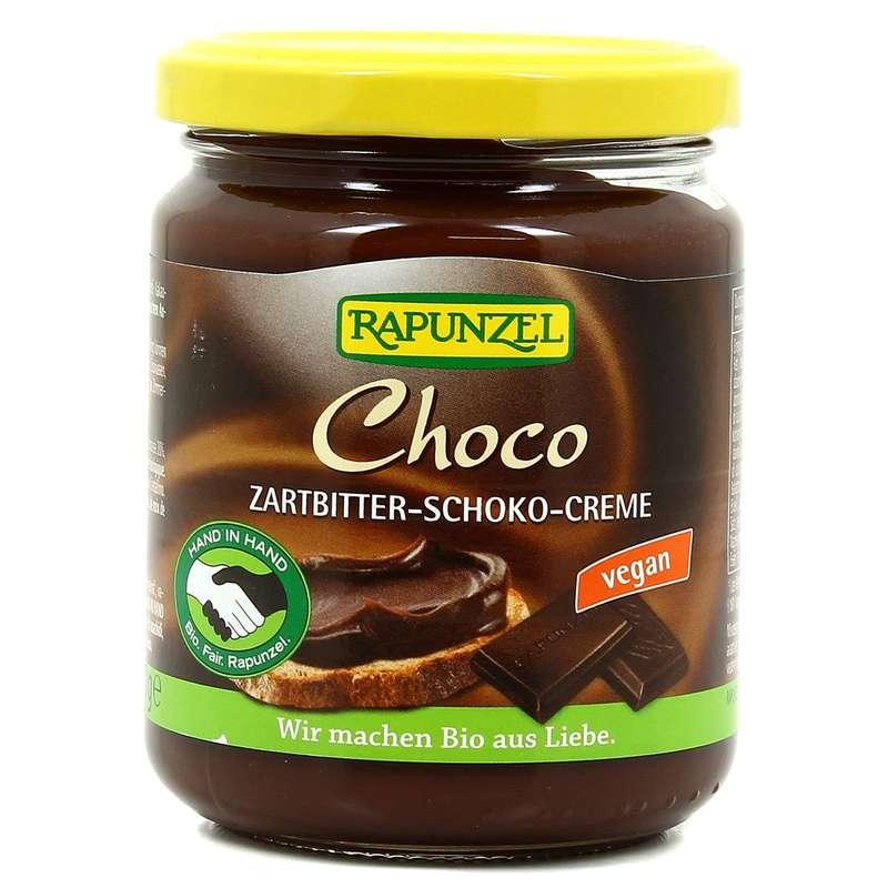 Pâte à tartiner chocolat sans lait sans noisettes BIO, Rapunzel (250 g)
