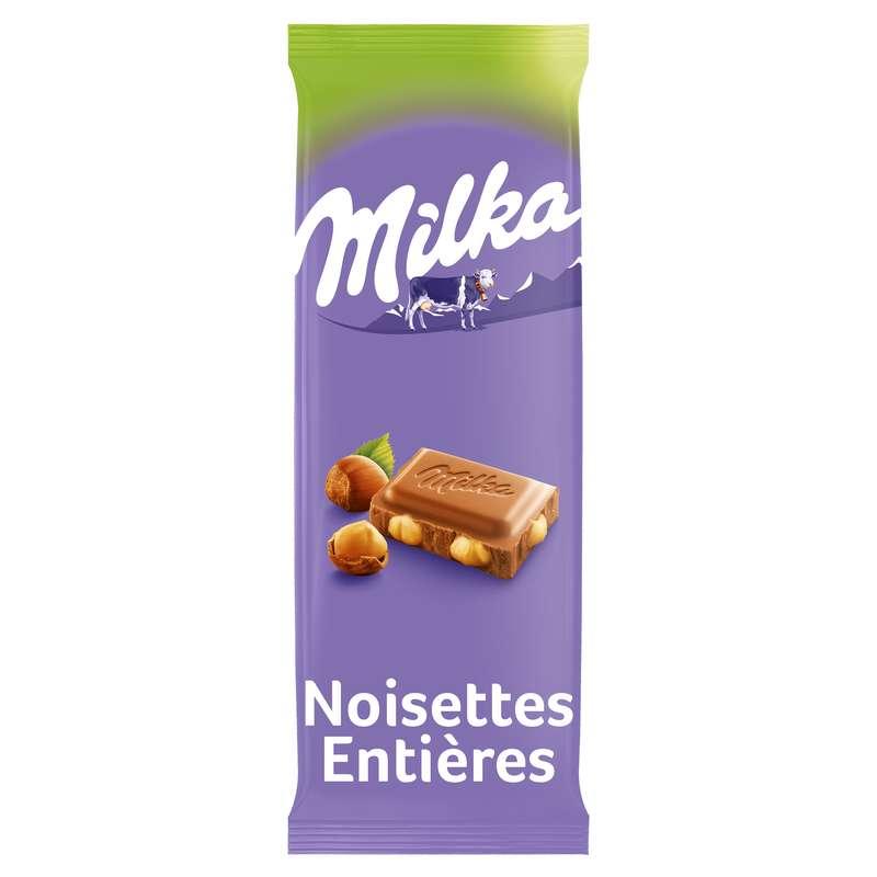 Chocolat au lait avec noisettes entières, Milka (270 g)