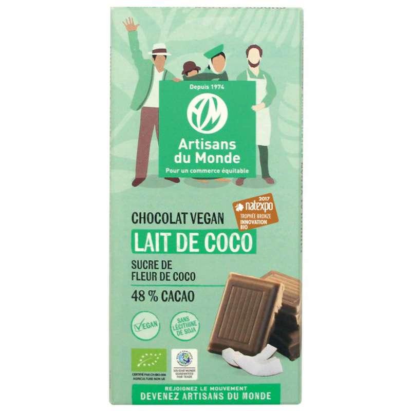 Chocolat Lait de Coco 48% BIO Vegan, Artisans du monde (100 g)