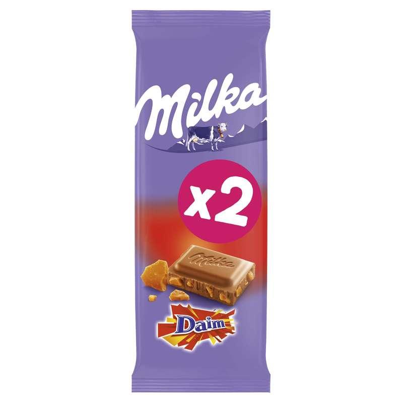 Chocolat au lait et au Daim, Milka LOT DE 2 (2 x 100 g)