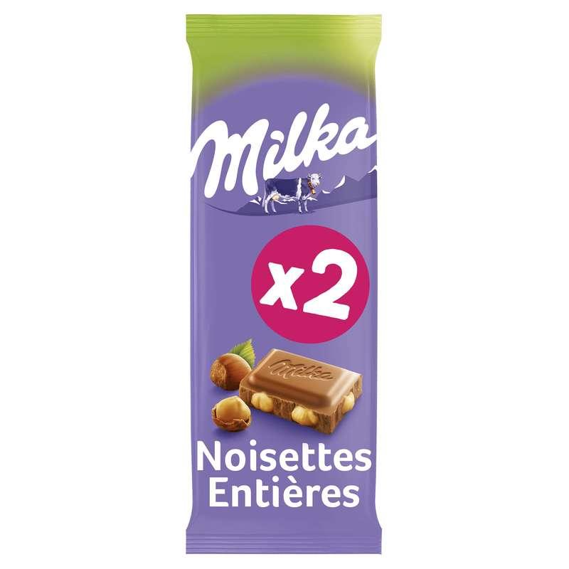 Chocolat au lait & noisettes, Milka LOT DE 2 (2 x 100 g)