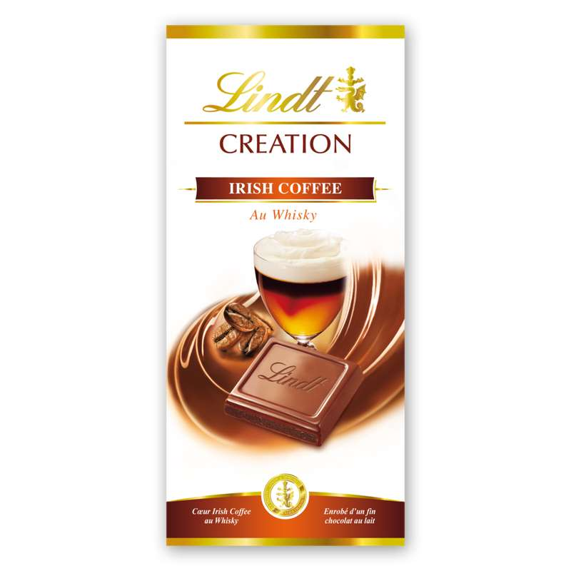 Chocolat au lait Irish Coffee, Lindt (150 g)