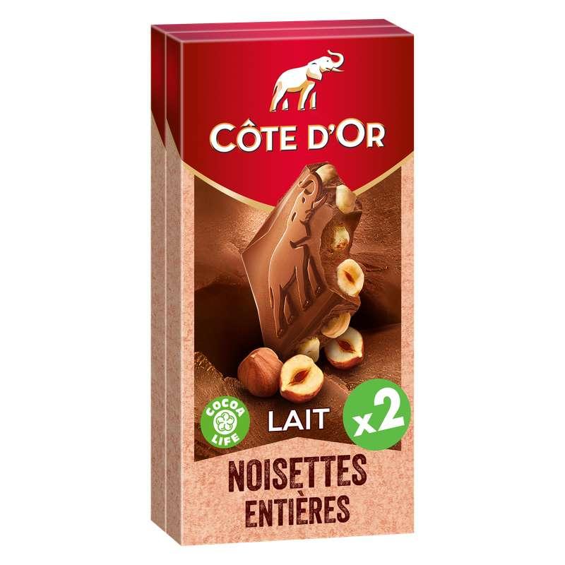 Chocolat au lait noisette, Côte d'Or LOT DE 2 (2 x 180 g)
