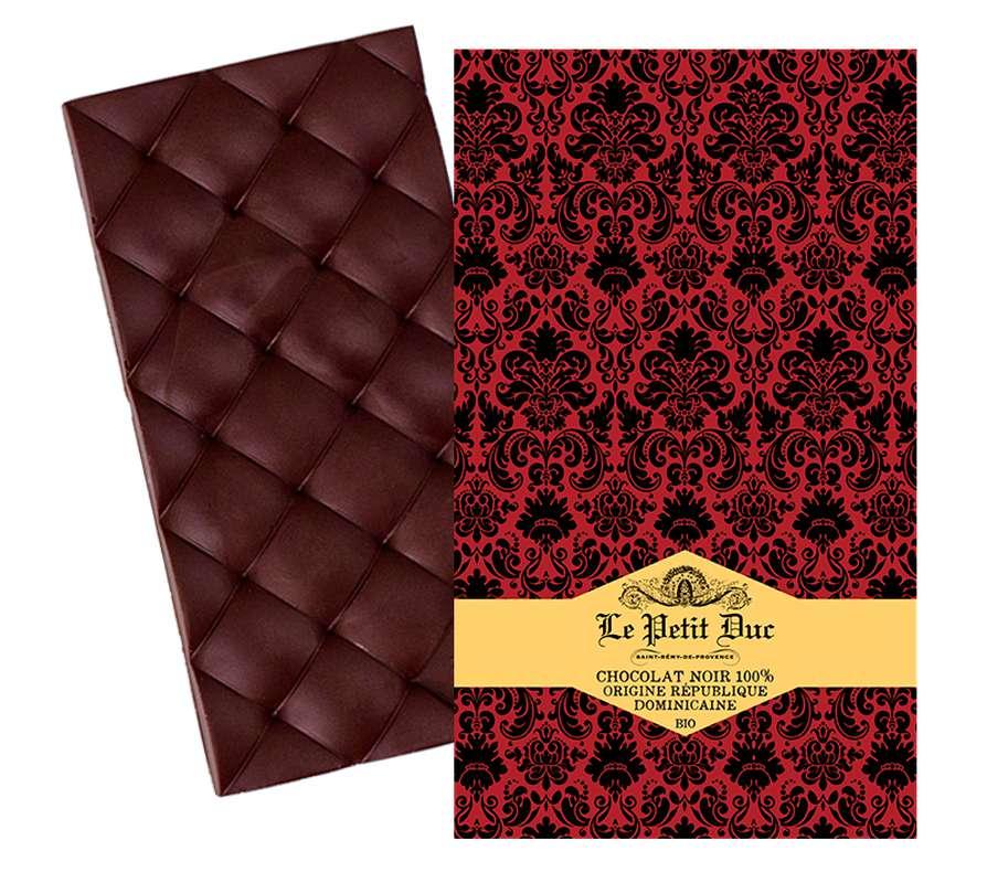 Chocolat noir 100% pure origine République Dominicaine BIO, Le Petit Duc (70 g)
