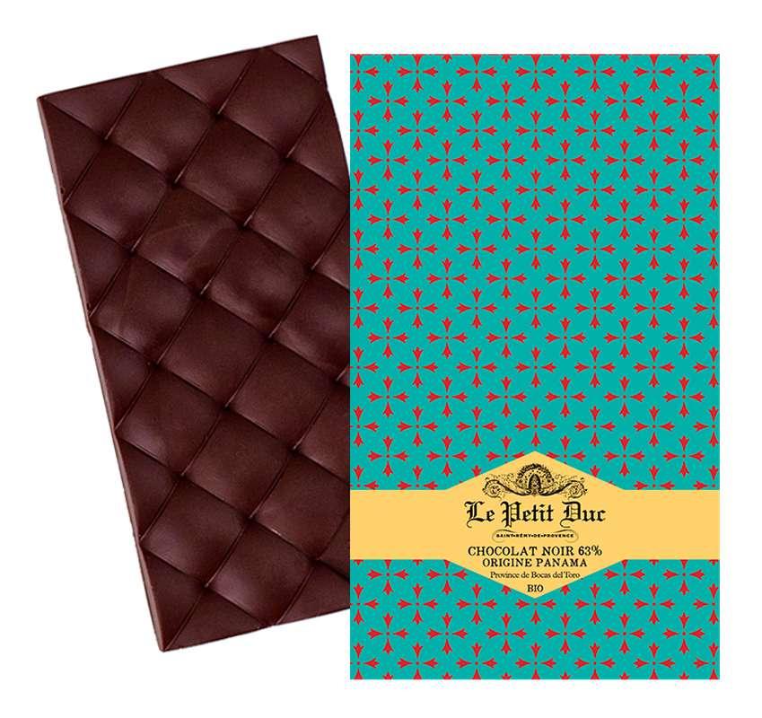 Chocolat noir 63% origine Panama BIO, Le Petit Duc (70 g)