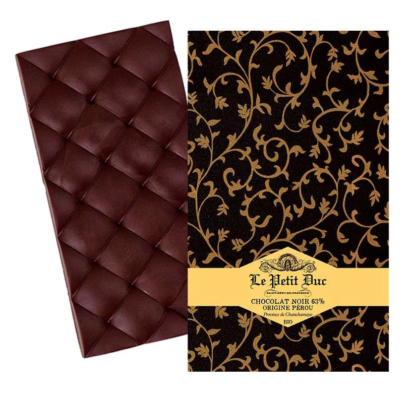 Chocolat noir 63% origine Pérou BIO, Le Petit Duc (70 g)
