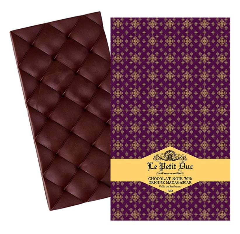 Chocolat noir 70% origine Madagascar BIO, Le Petit Duc (70 g)