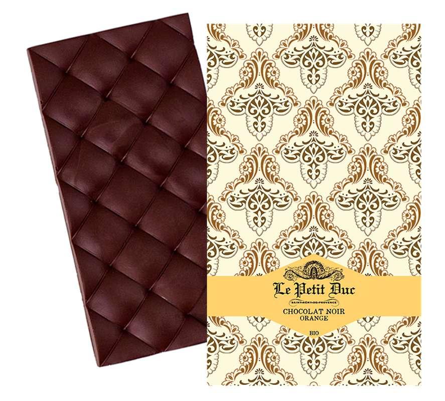 Chocolat noir à l'orange BIO, Le Petit Duc (70 g)