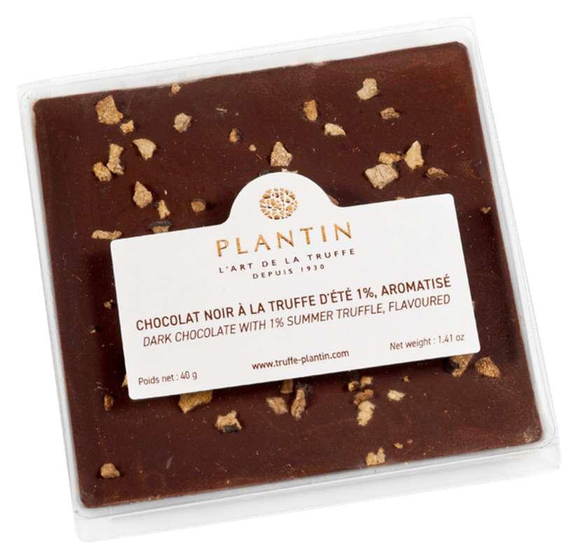 Chocolat noir à la truffe d'été 1% aromatisé, Plantin (40 g)