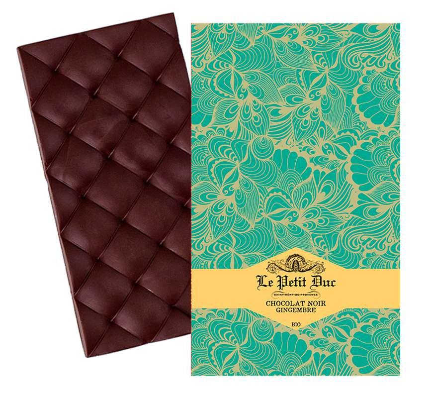 Chocolat noir au gingembre BIO, Le Petit Duc (70 g)
