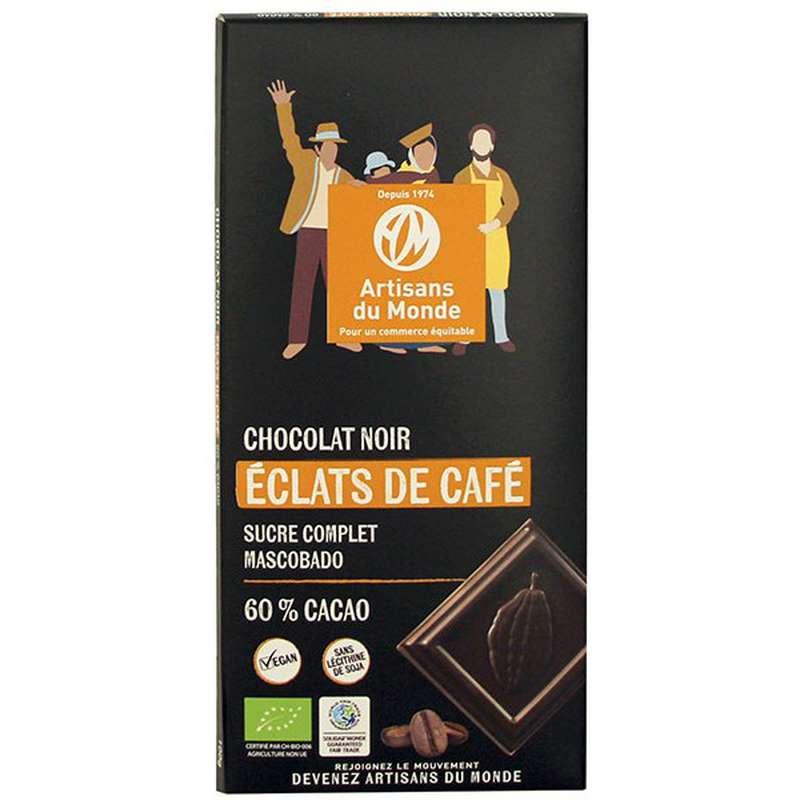Chocolat Noir aux éclats de café 60% BIO, Artisans du monde (100 g)