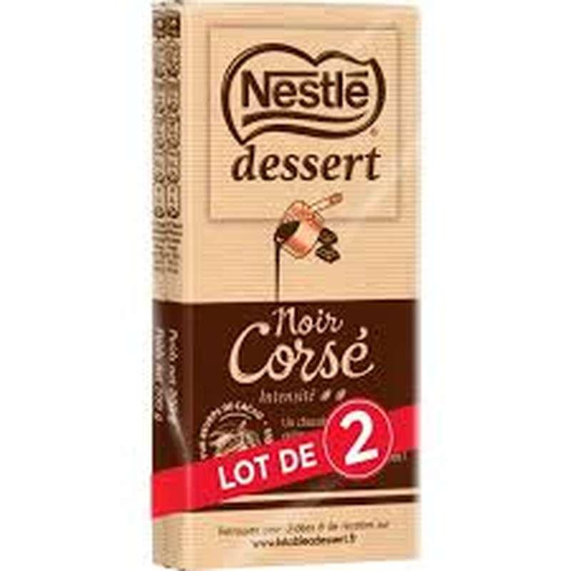 Chocolat noir corsé 64%, Nestlé dessert (2 x 200 g)