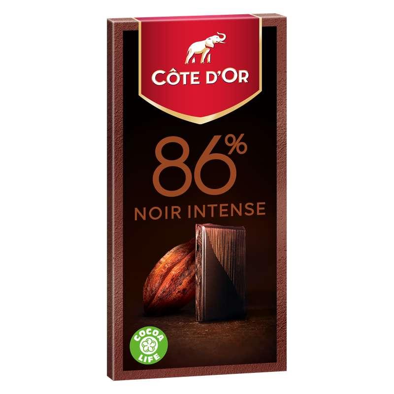 Chocolat noir intense 86% de cacao, Côte d'Or (100 g)