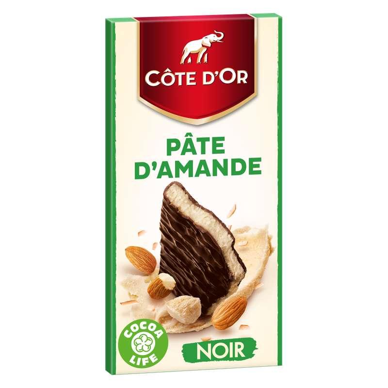 Chocolat noir fourré à la pâte d'amande, Côte d'Or (150 g)