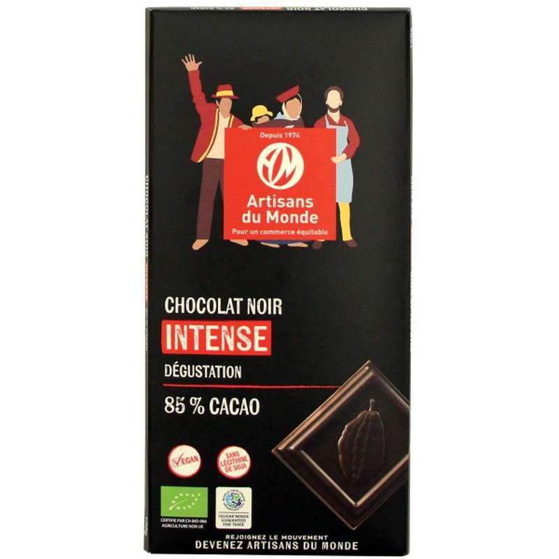 Chocolat Noir intense 85% BIO Vegan, Artisans du monde (100 g)